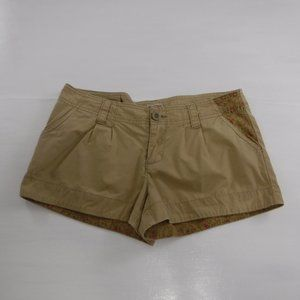 Mossimo Supply Co Tan Floral Pocket Shorts